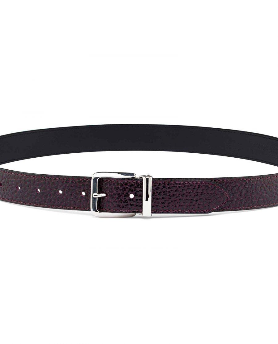 Reversible-Maroon-Leather-Belt-On-pants