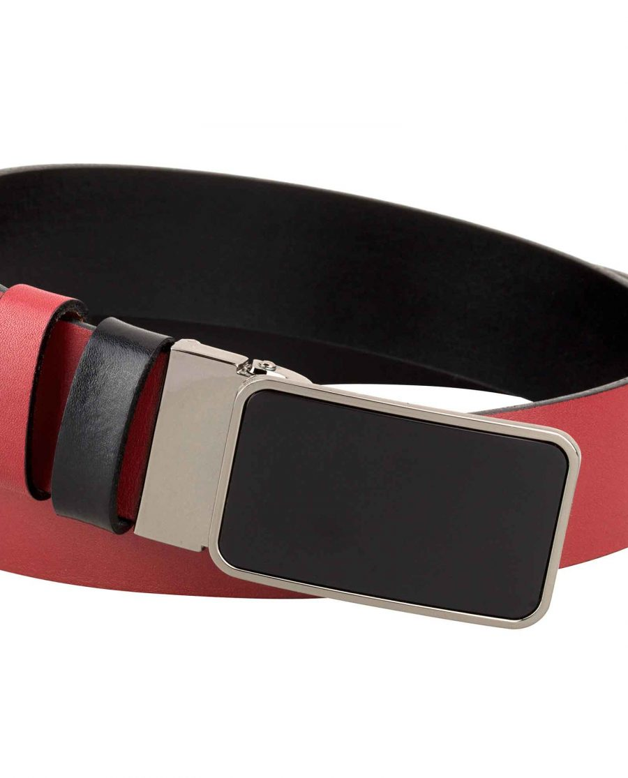 Reversible-Mens-Red-Belt-Buckle-image