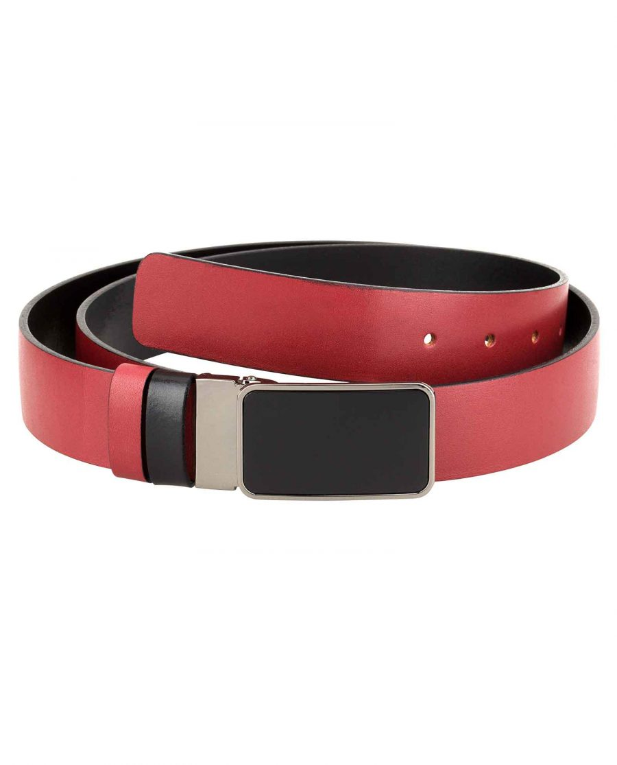 Reversible-Mens-Red-Belt-First-image