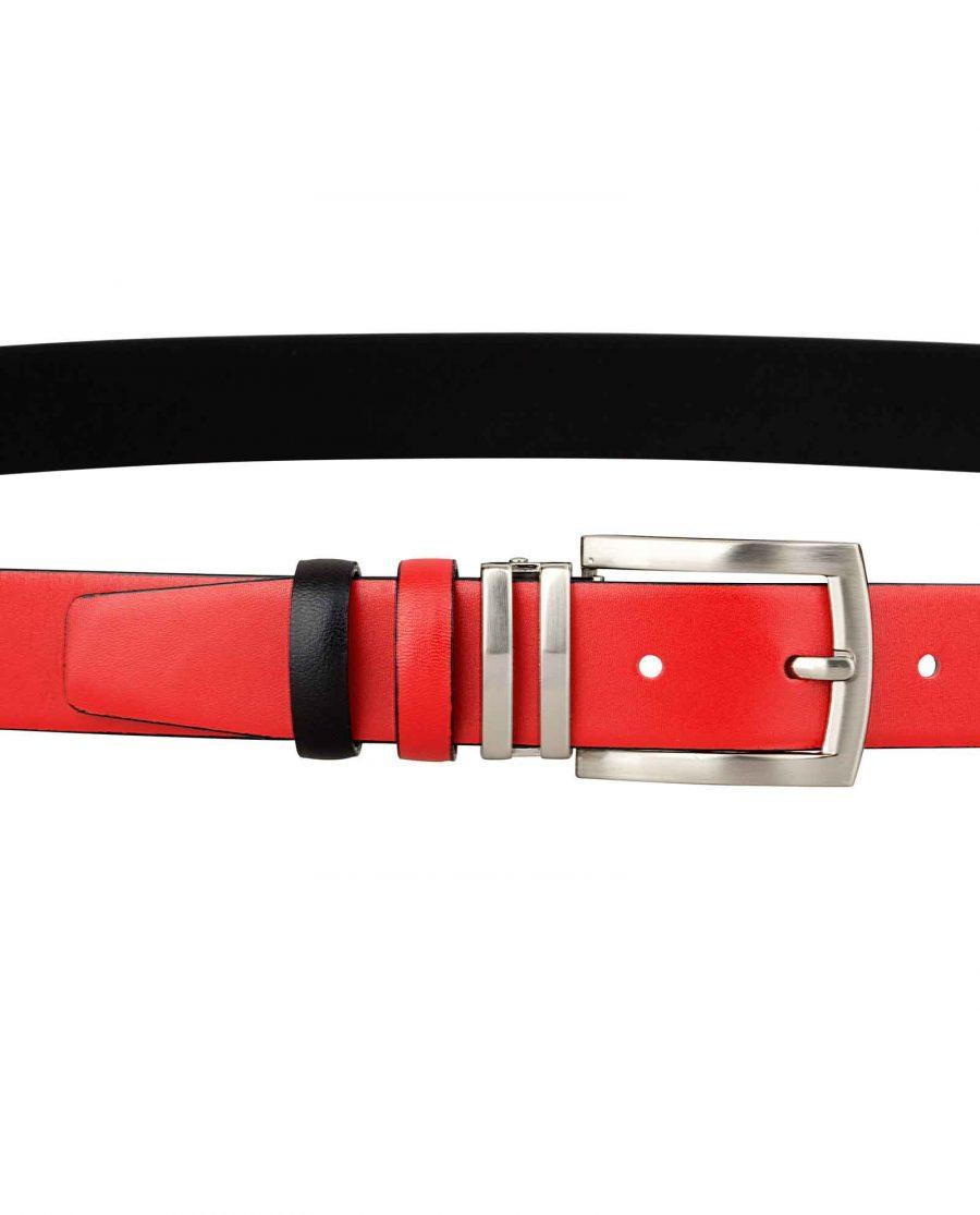 Reversible-Red-Black-Womens-Belt-On-dress