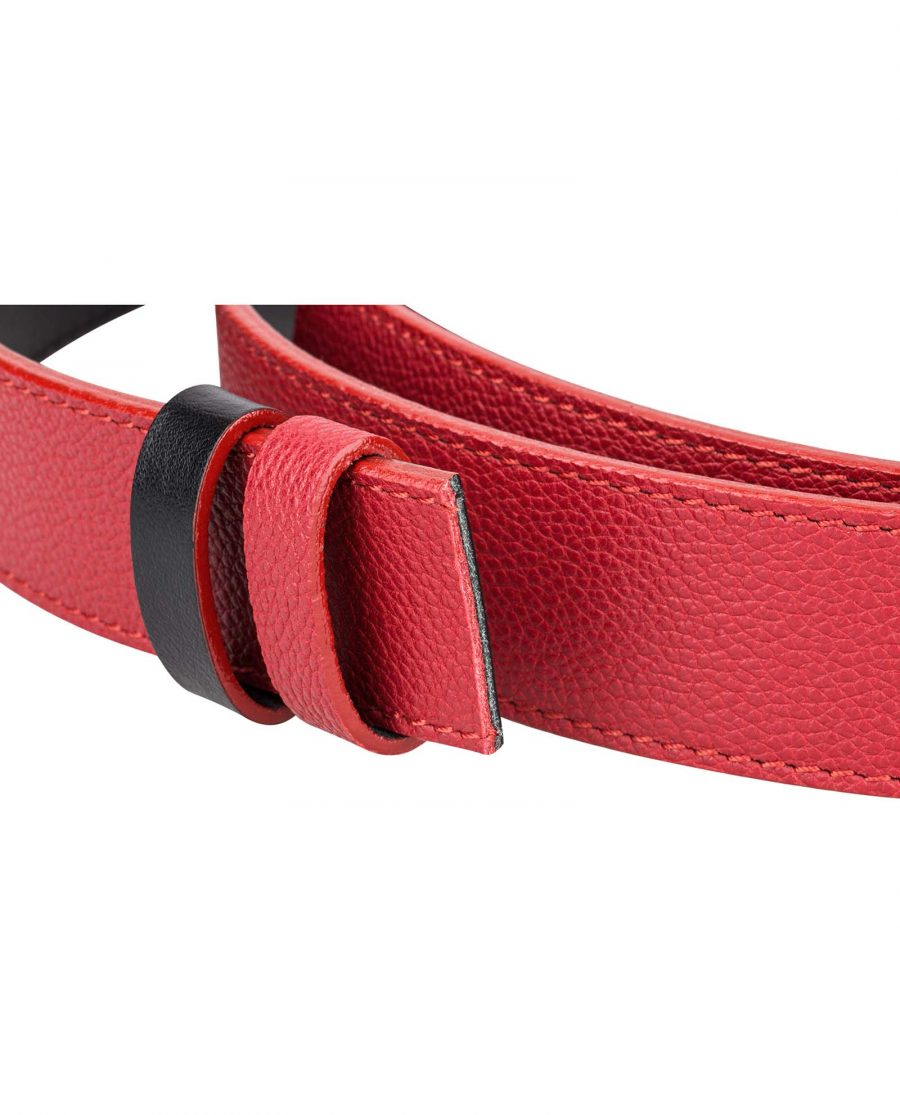Reversible-Red-Leather-Belt-Strap-Buckle-mount