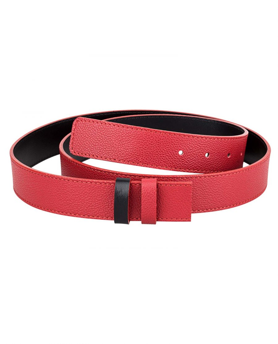 Reversible-Red-Leather-Belt-Strap-Main-picture
