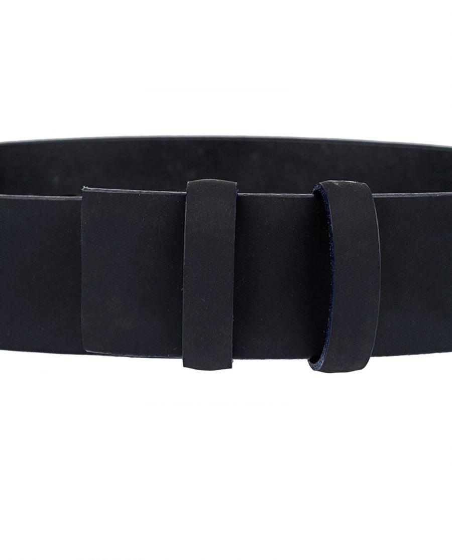 Rubber-Coated-Belt-Strap-Navy-Edges-Close