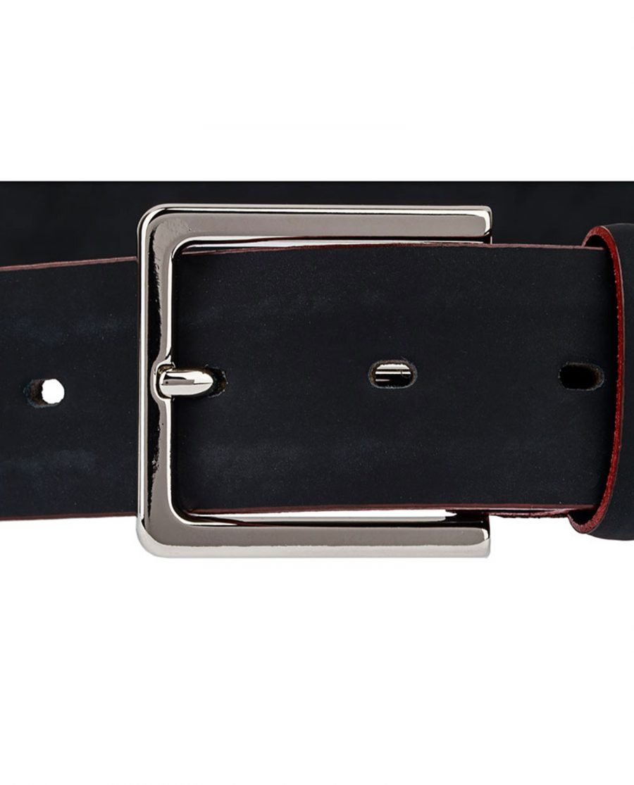 Rubber-Coated-Black-Belt-With-Red-Edges-Buckle