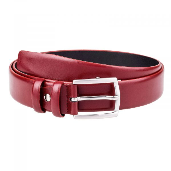 Ruby-Red-Leather-Belt-First-image