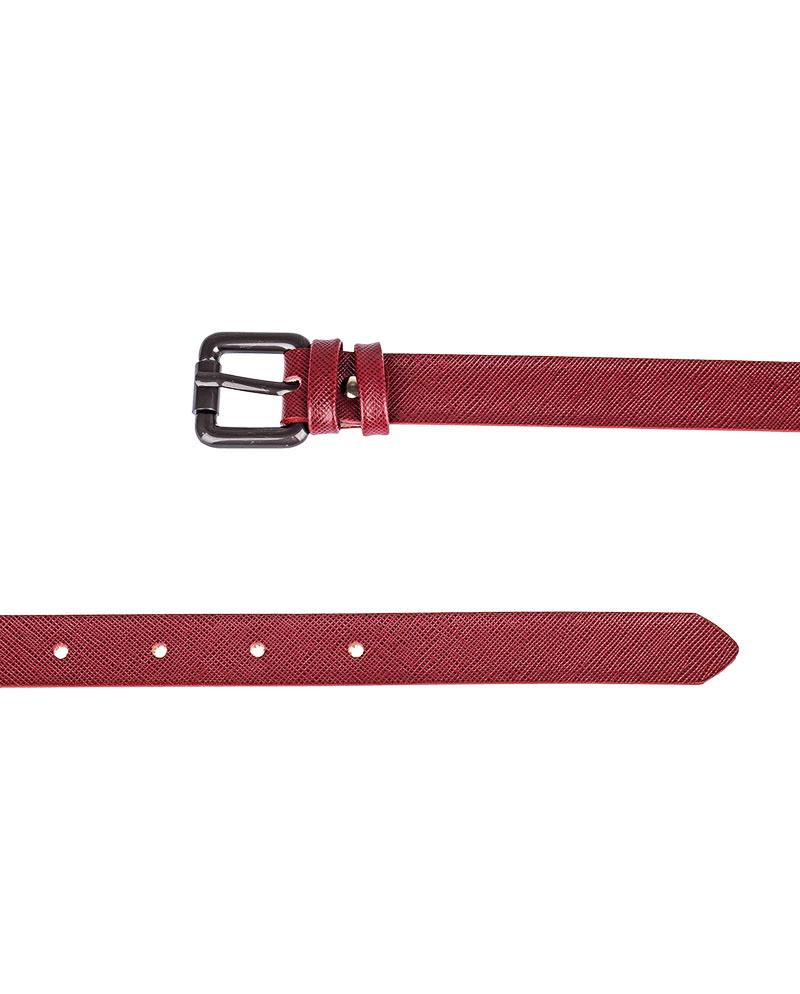 Ruby-Red-Saffiano-Skinny-Belt-Both-Sides