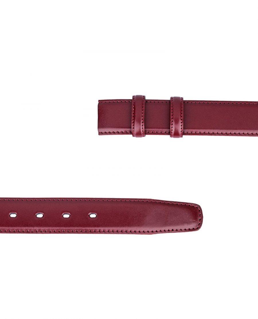 Ruby-Red-Threaded-Belt-Strap-Both-Ends