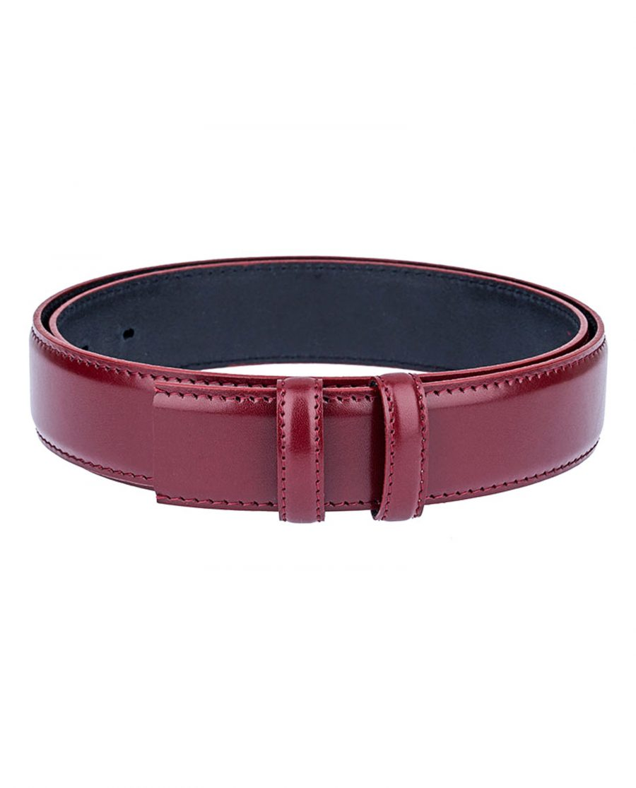 Ruby-Red-Threaded-Belt-Strap-Front