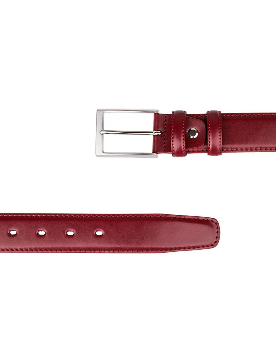 Ruby-Red-Threaded-Leather-Belt-Both-Ends