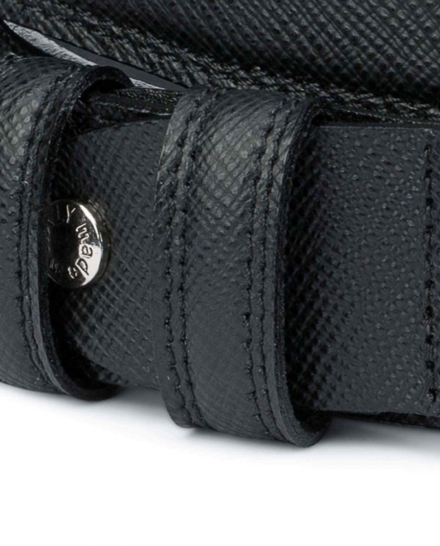 Saffiano-Black-Leather-Belt-Mens-Dress-Calfskin