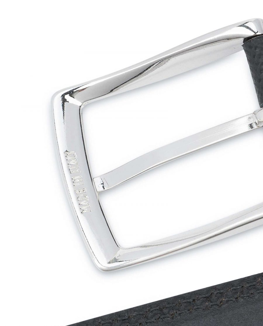 Saffiano-Black-Leather-Belt-Mens-Dress-Italian-buckle