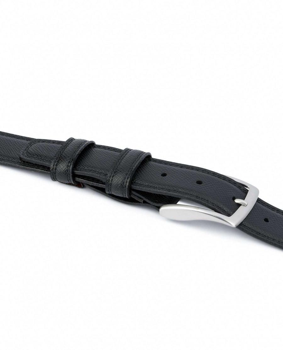 Saffiano-Black-Leather-Belt-Mens-Dress-Italian-quality