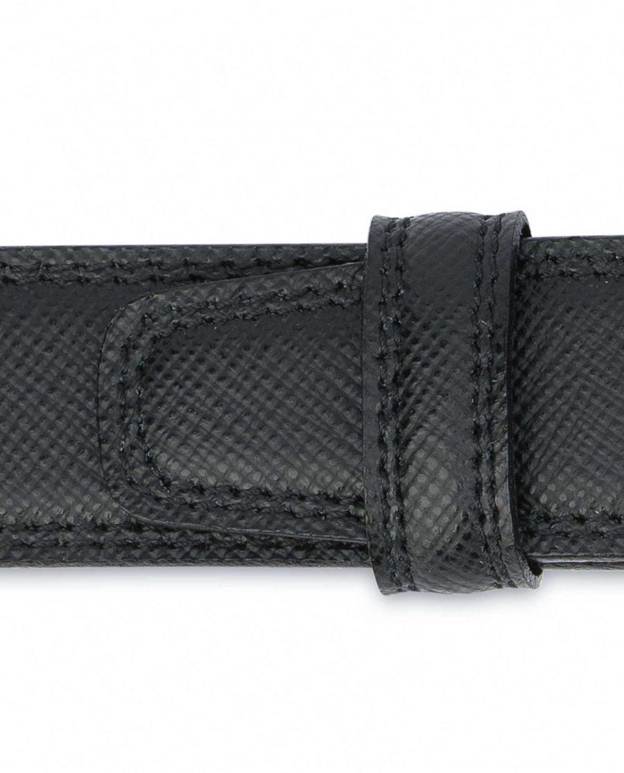 Saffiano-Black-Leather-Belt-Mens-Dress-Loops
