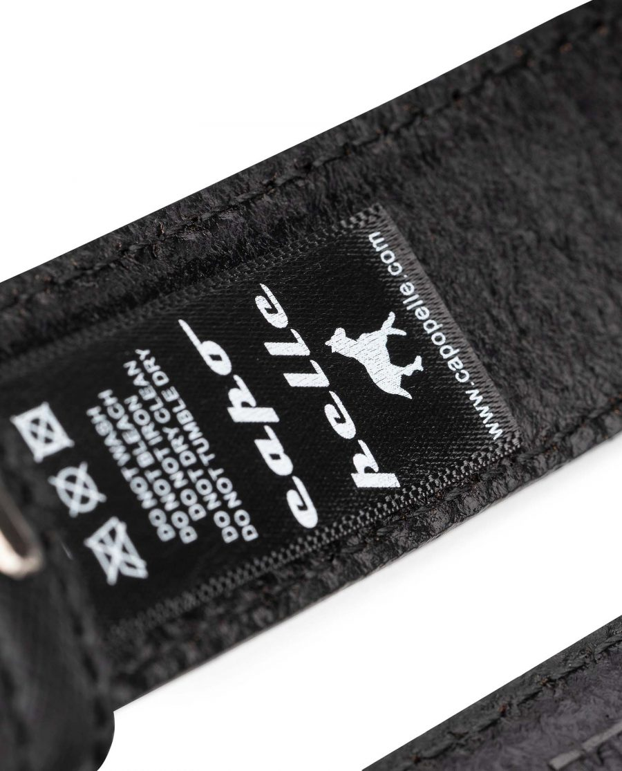 Saffiano-Leather-30-mm-Replacement-Belt-Strap-by-Capo-Pelle-Care-label