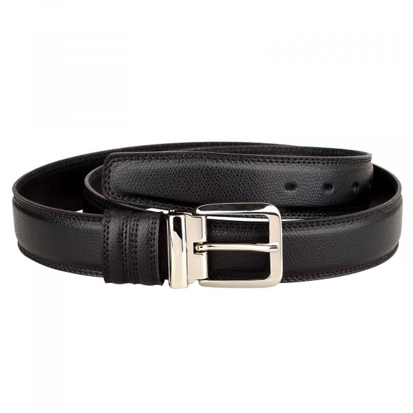 Saffiano-Leather-Belt-Italian-Buckle-Front-image