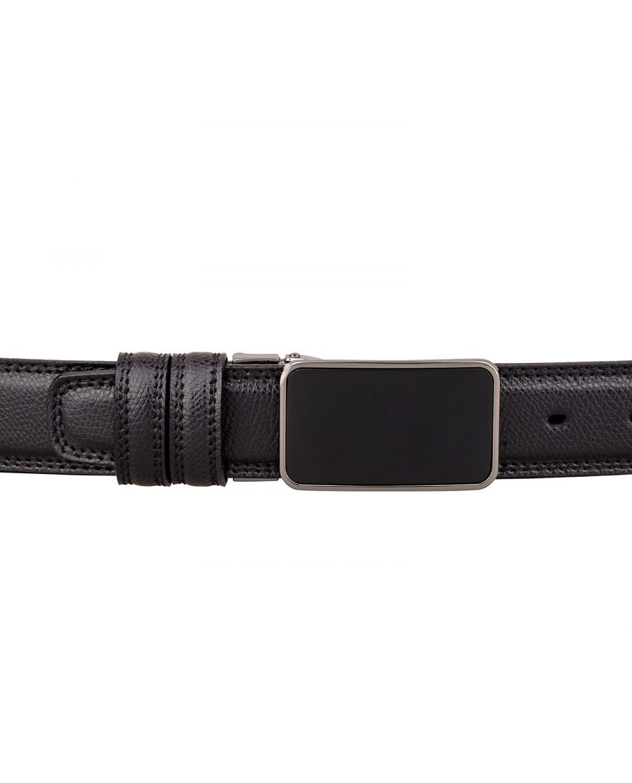 Saffiano-Mens-Leather-Belt-On-pants