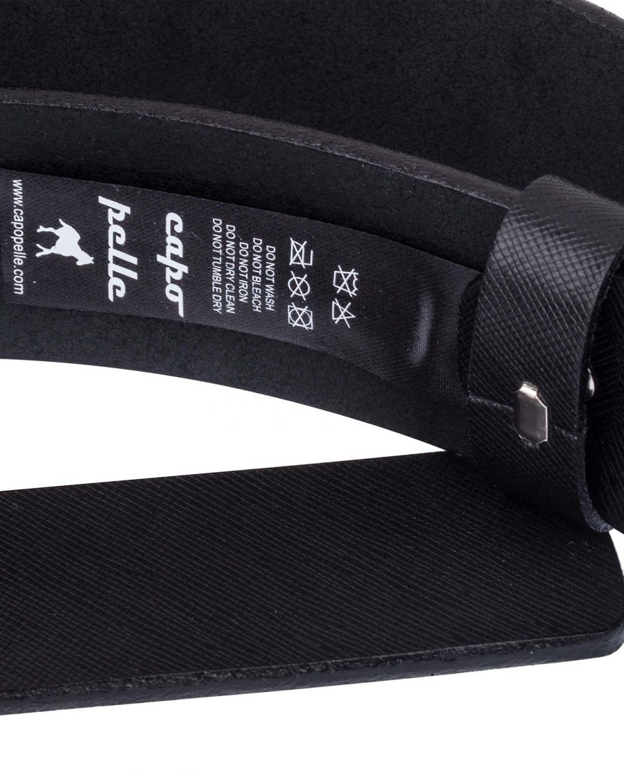 Saffiano-Thick-Leather-Belt-Care-label