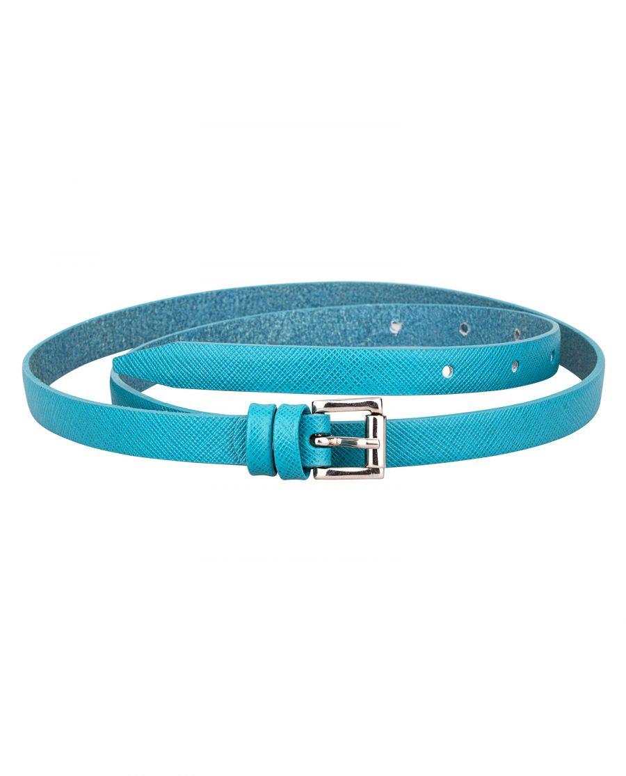 Saffiano-skinny-belt-teal