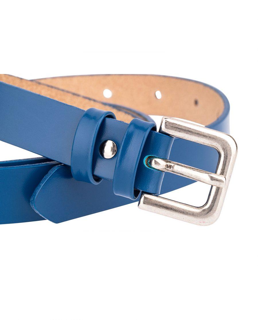 Smooth-Blue-Skinny-Belt-Buckle