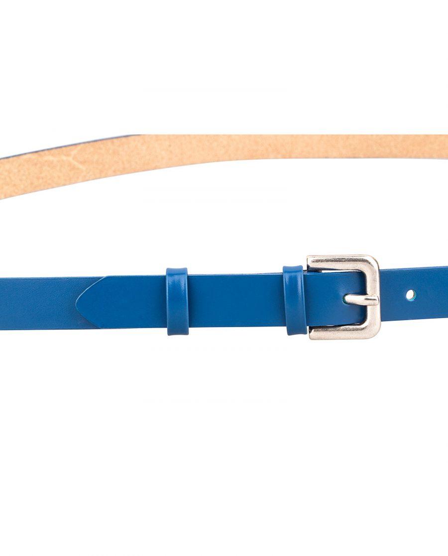 Smooth-Blue-Skinny-Belt-Buckle-On-pants