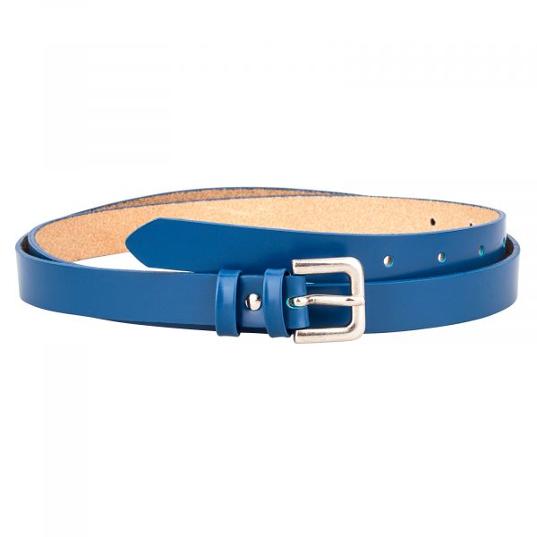 Smooth-Blue-Skinny-Belt-Front-Image