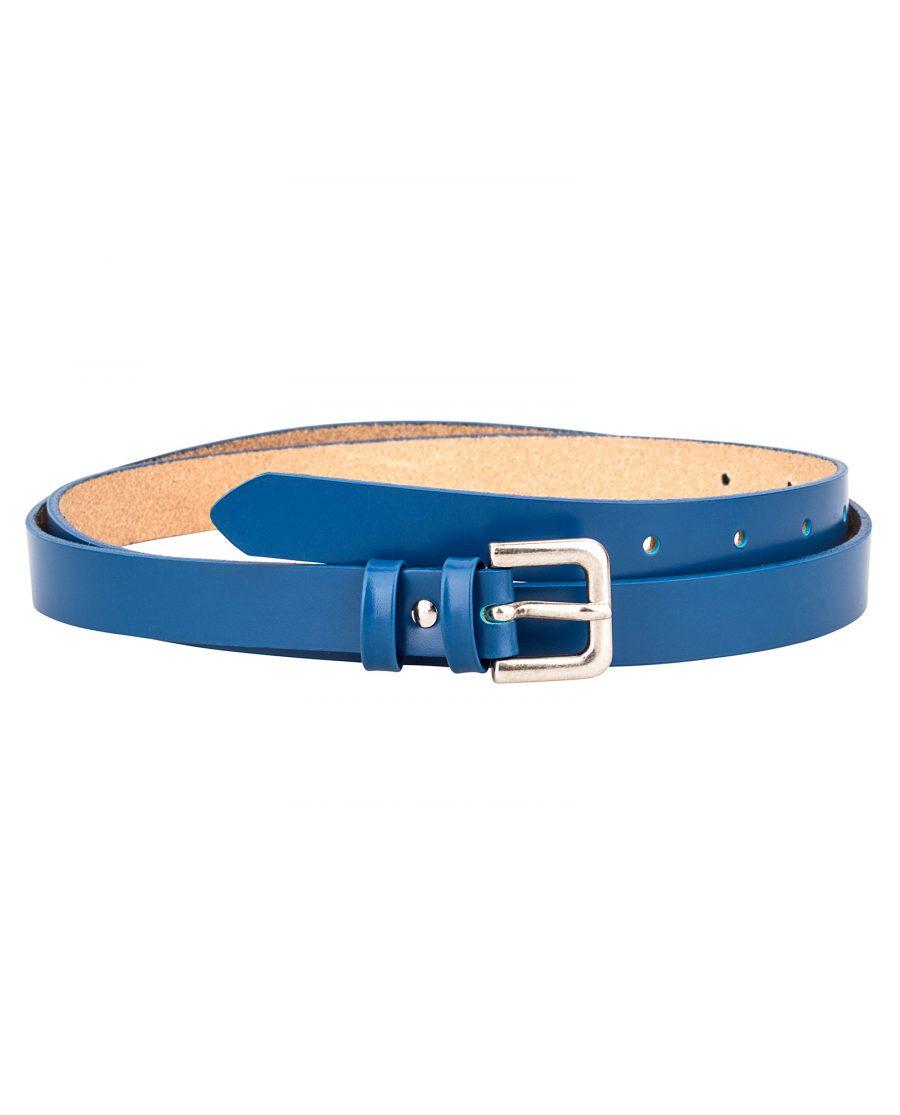Smooth-Blue-Skinny-Belt-Front-Image