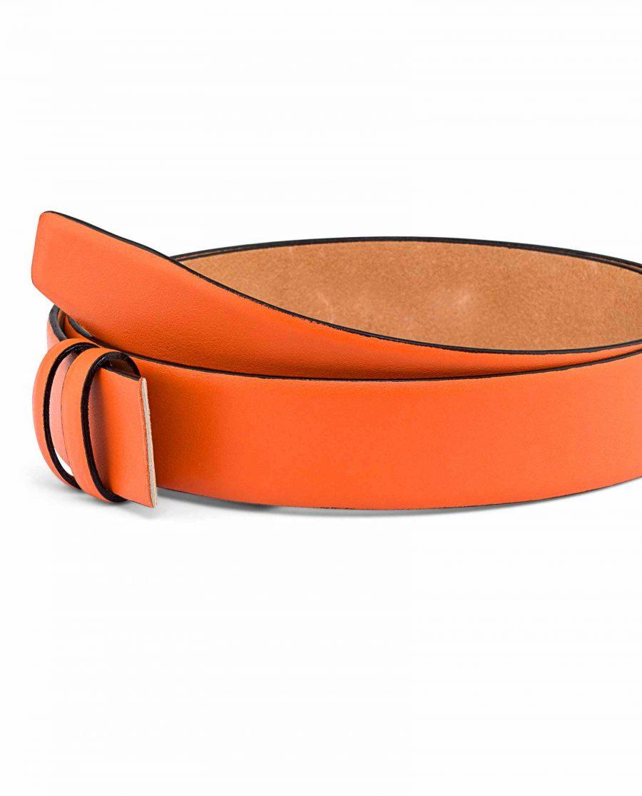 Smooth-Leather-Orange-Belt-Strap-Buckle-Mount