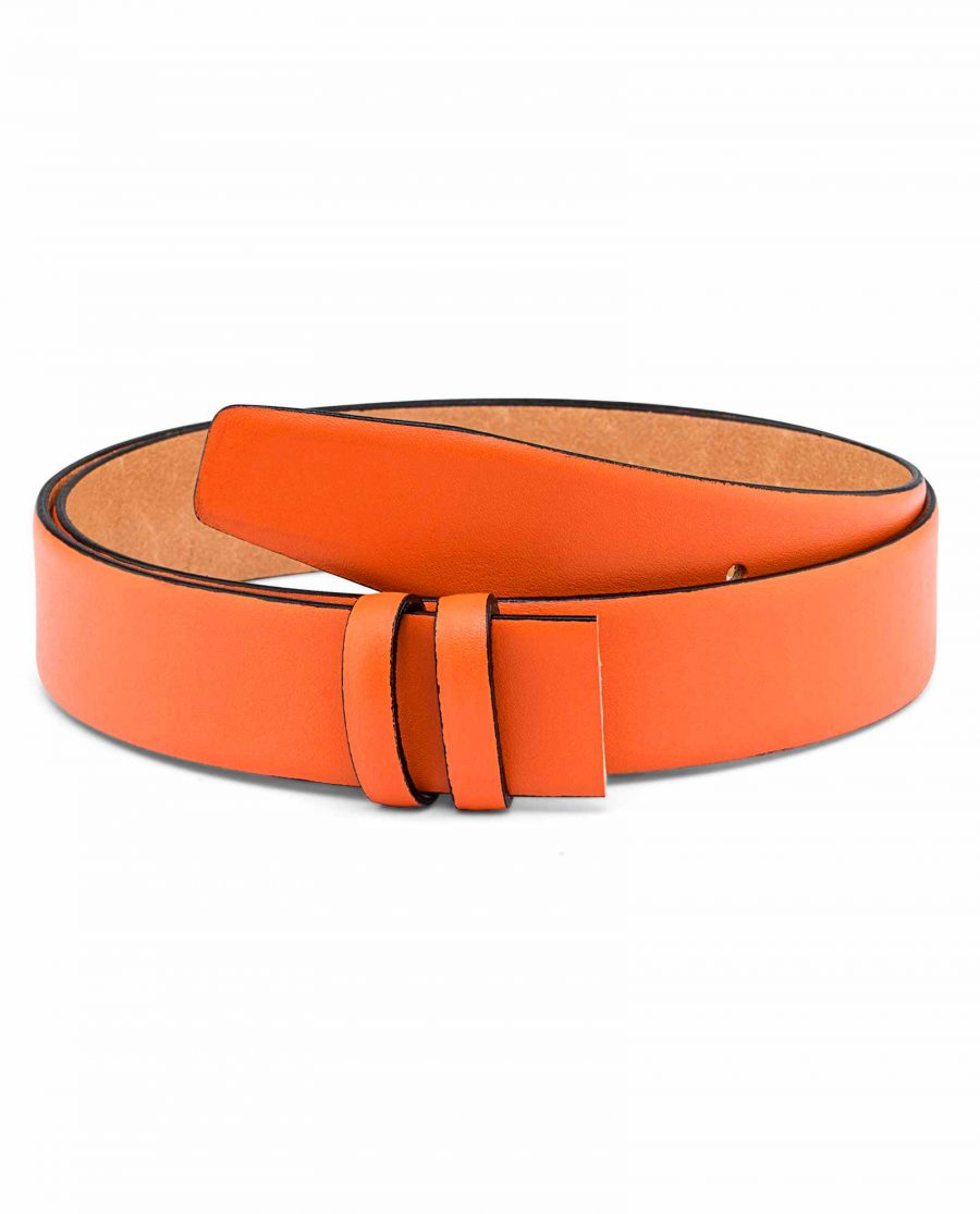 Smooth-Leather-Orange-Belt-Strap-Main-picture
