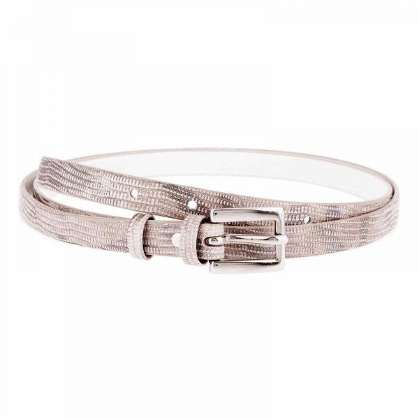 Snake-Skinny-Belt-Gray-Front-image