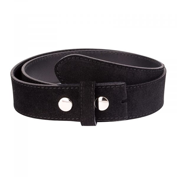 Snap-on-belt-strap-suede-black