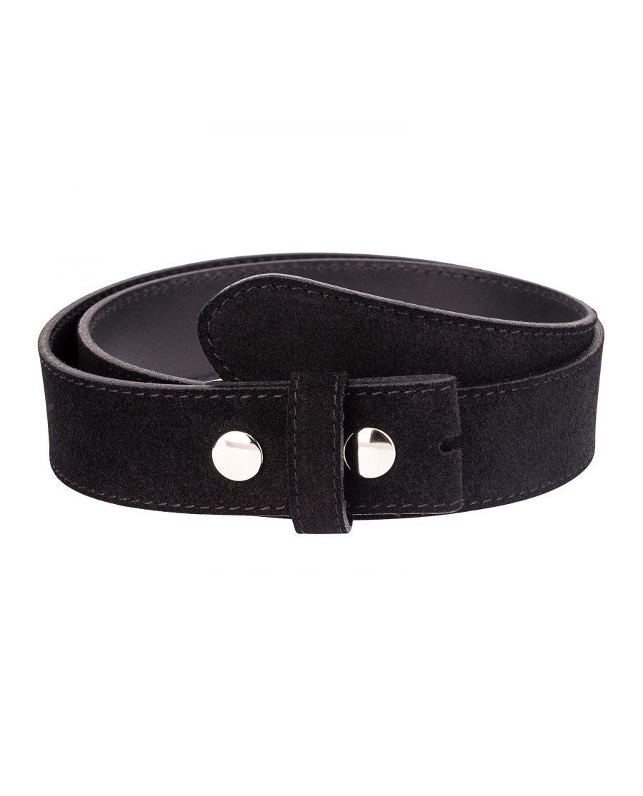 Snap-on-belt-strap-suede-black