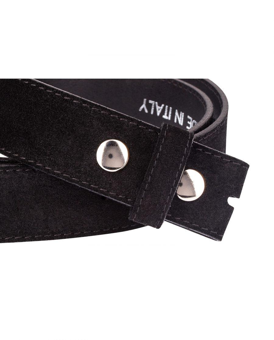 Snap-on-belt-strap-suede-black-close