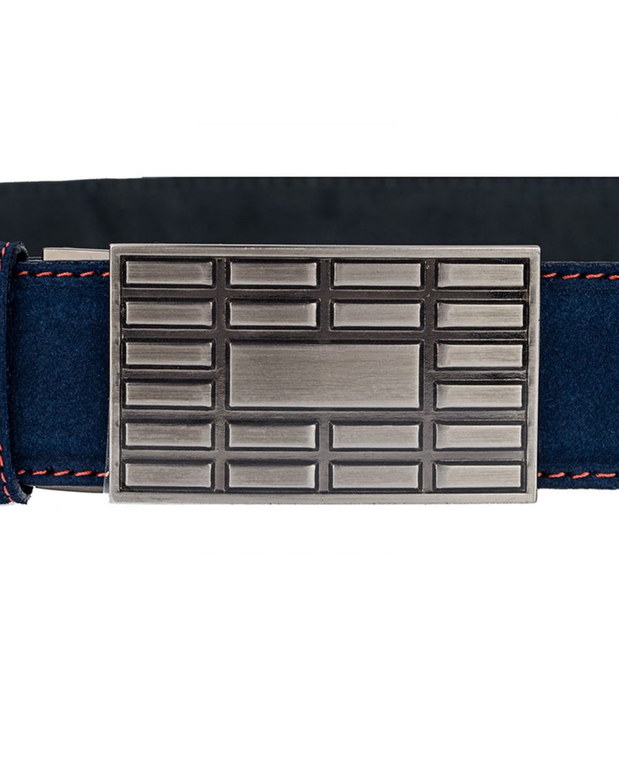 Suede-Belt-Red-Thread-With-Brick-Buckle-Buckle-One