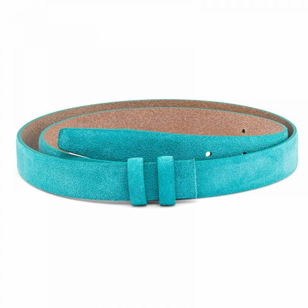 Suede-Turquoise-Leather-Belt-Strap-25-mm-Main-image