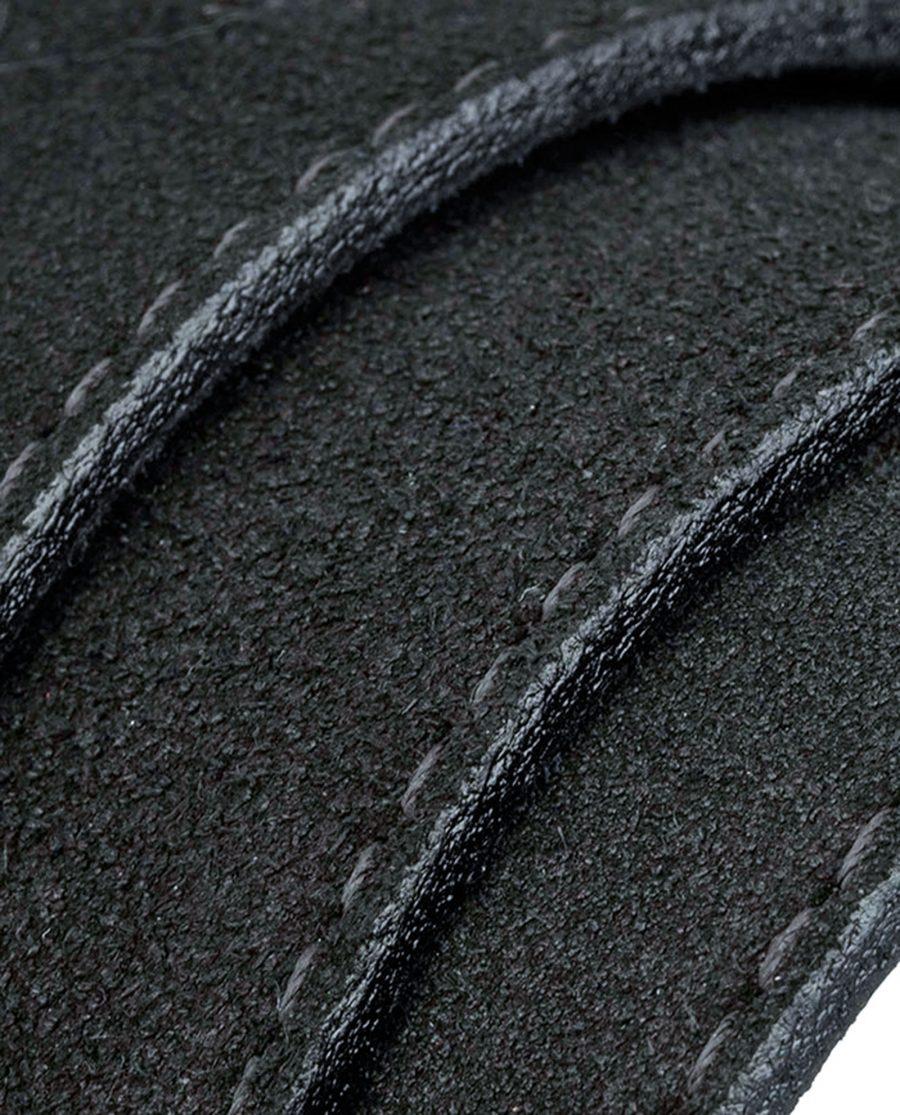 Suede-belt-strap-wide-black-rolled