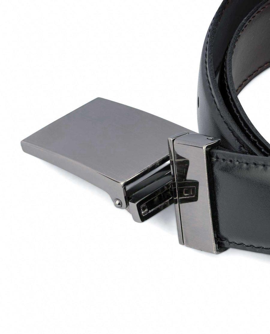 Swivel-Buckle-Two-Sided-Leather-Belt-Capo-Pelle-Reversible-mechanism