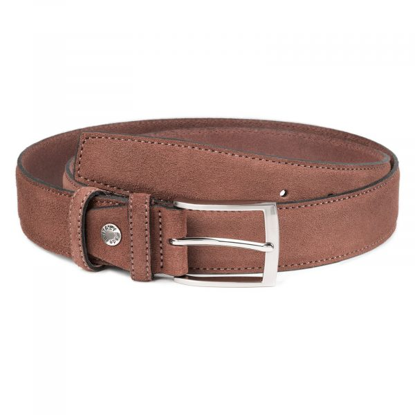 Tan-Suede-Belt-by-Capo-Pelle-Cognac-brown-Italian-Calf-Leather-Main-image