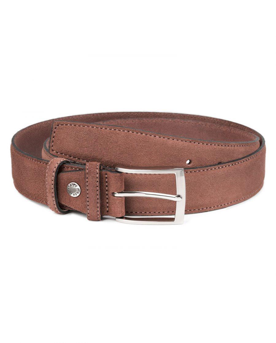 Tan-Suede-Belt-by-Capo-Pelle-Cognac-brown-Italian-Calf-Leather-Main-image