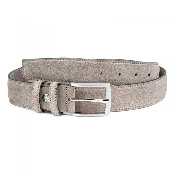Taupe-Suede-Belt-Beige-Italian-leather-by-Capo-Pelle-Top-image