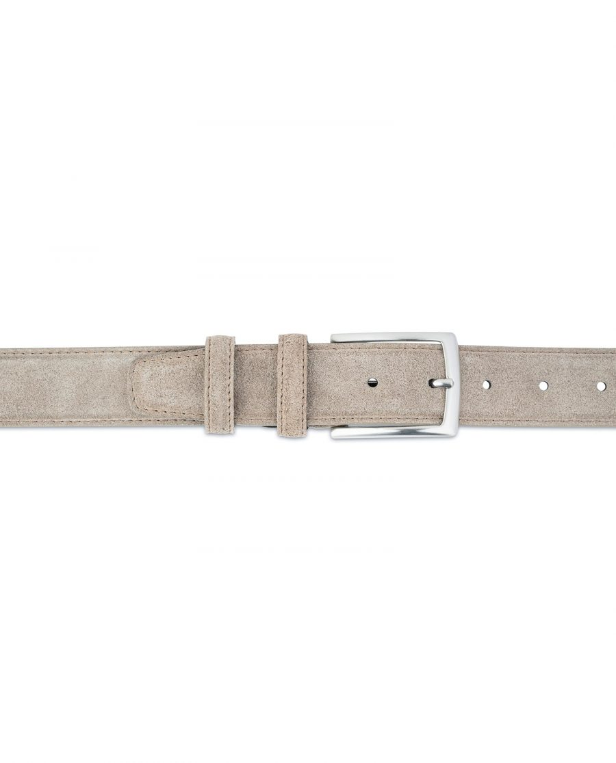 Taupe Suede Belt Mens Womens For jeans On pants