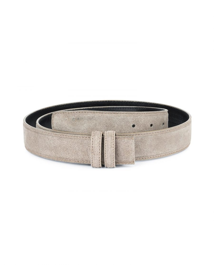 Taupe Suede Belt Strap Replacement Adjustable 1