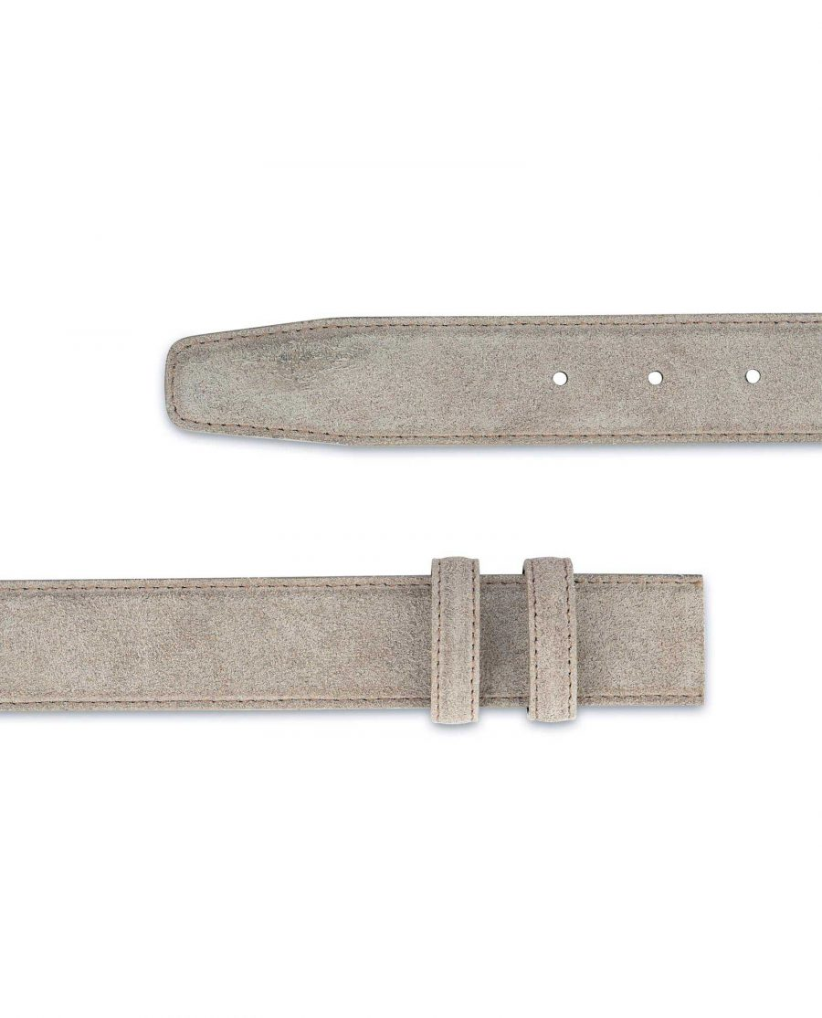 Taupe Suede Belt Strap Replacement Adjustable 2