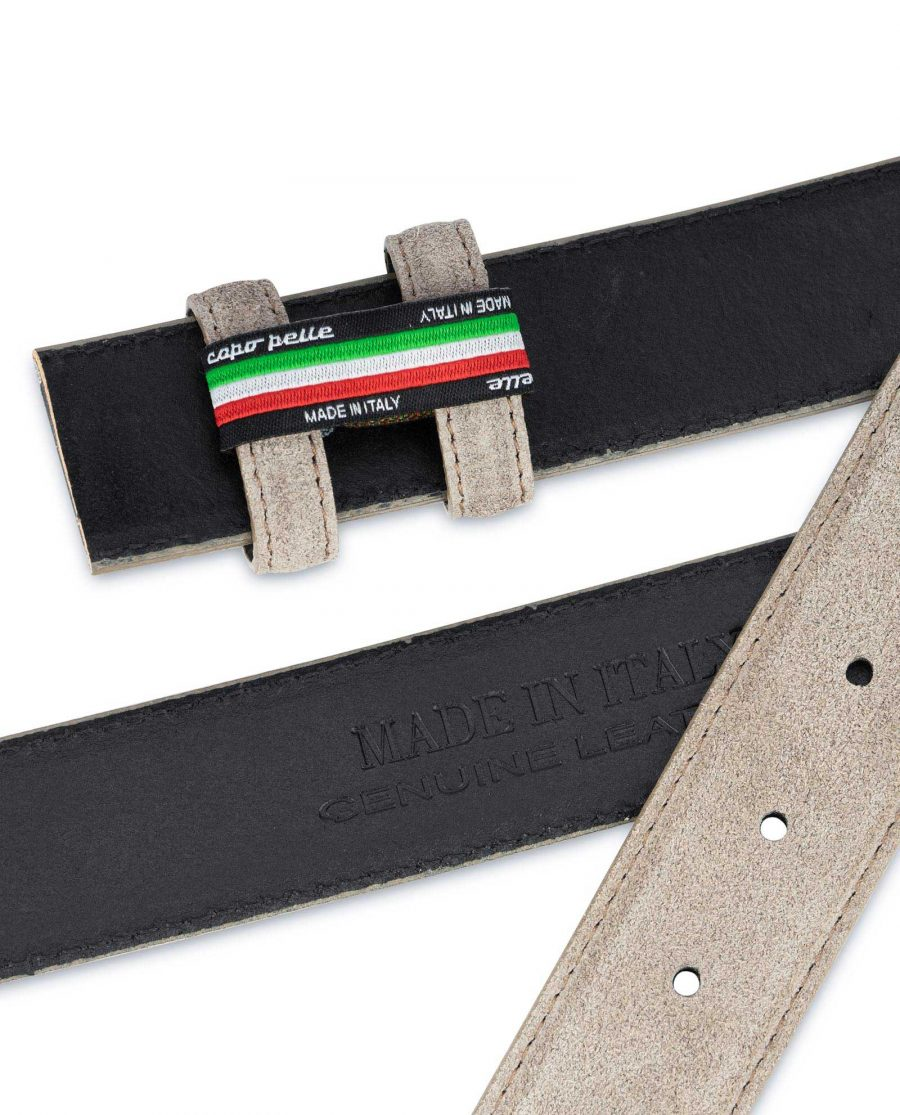 Taupe Suede Belt Strap Replacement Adjustable 3