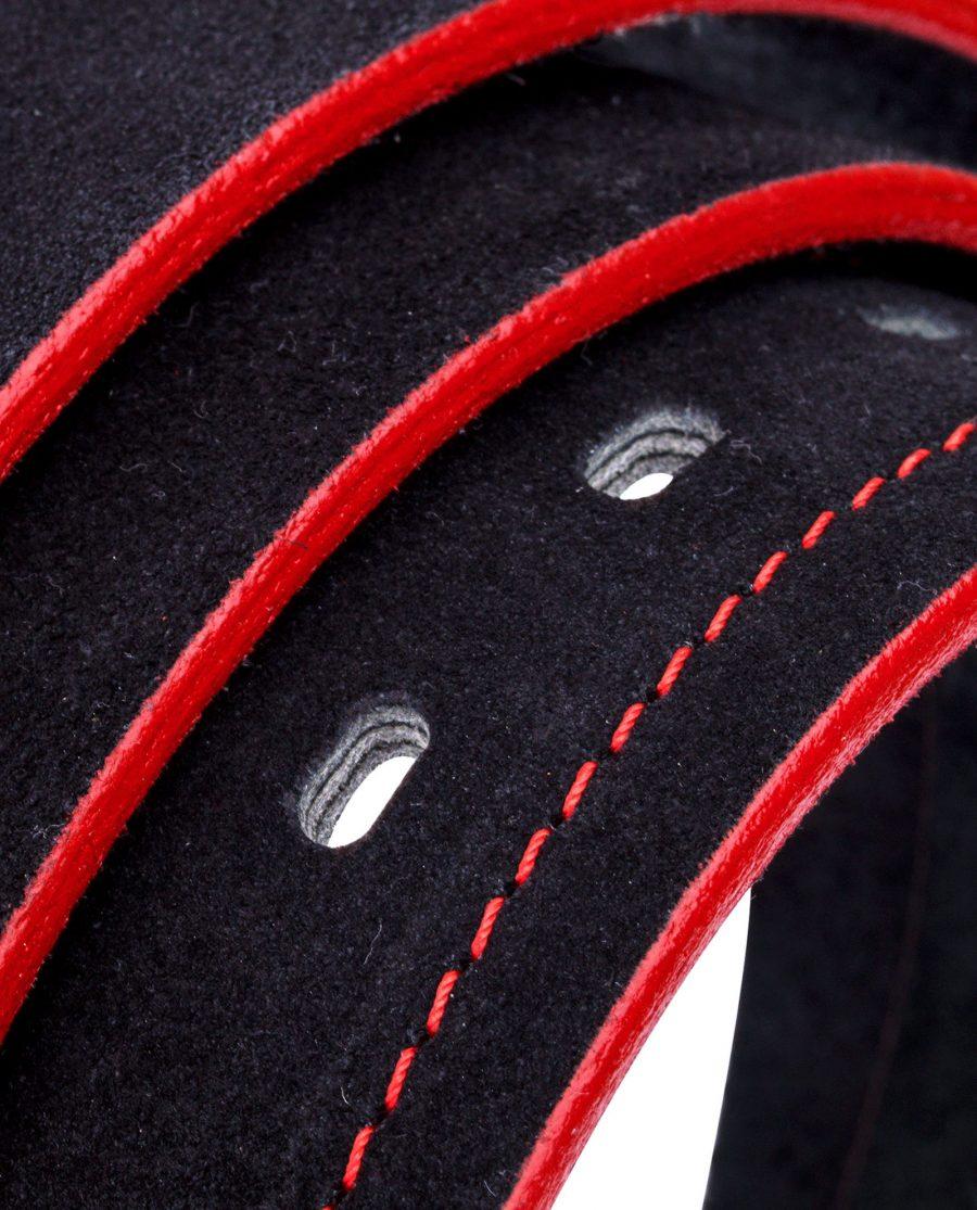 Thick-Black-Suede-Belt-Rolled-strap