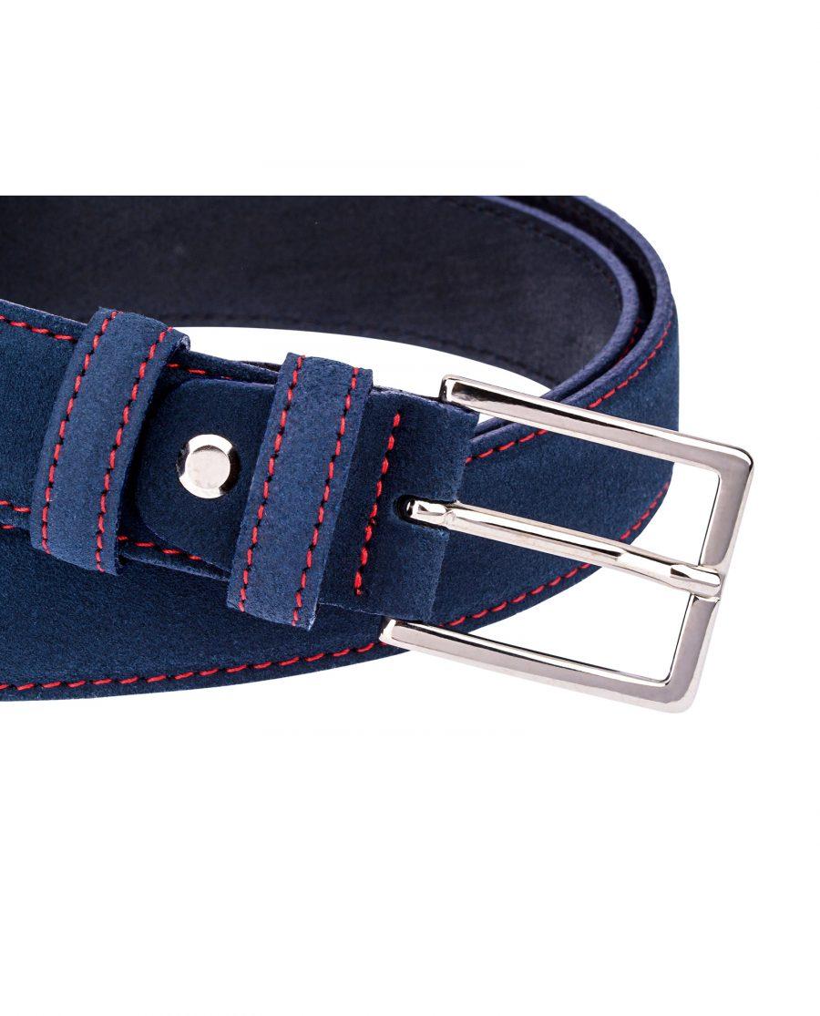 Thin-Blue-Suede-Belt-Buckle-close