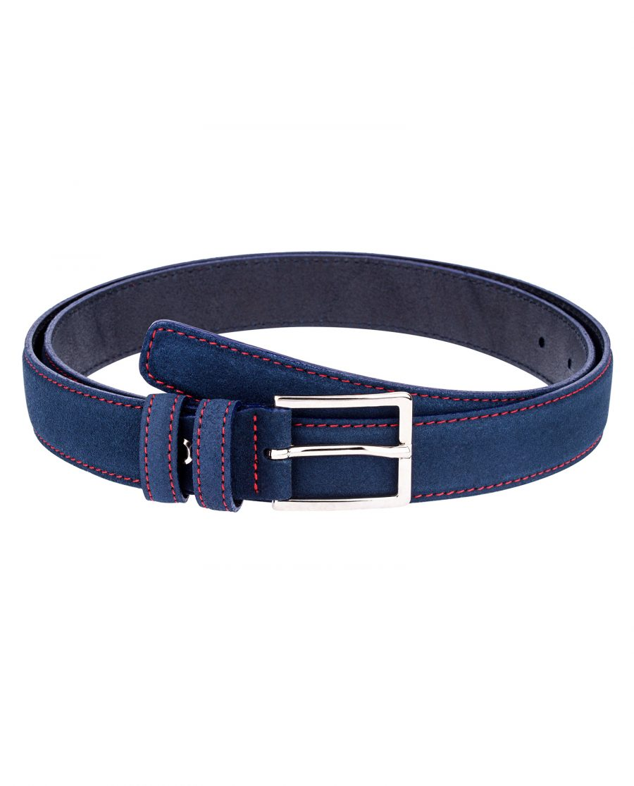 Thin-Blue-Suede-Belt-Main-picture