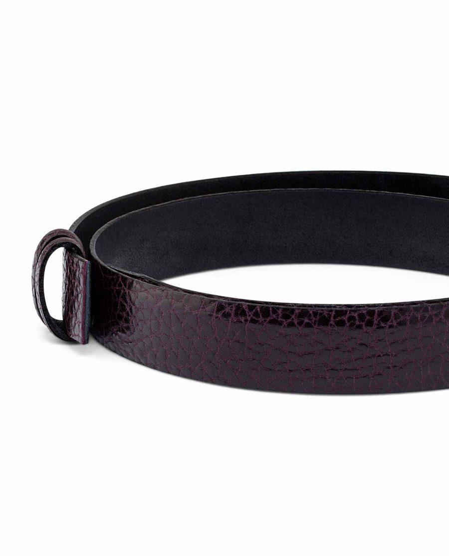 Thin-Purple-Belt-Strap-30-mm-Buckle-attach