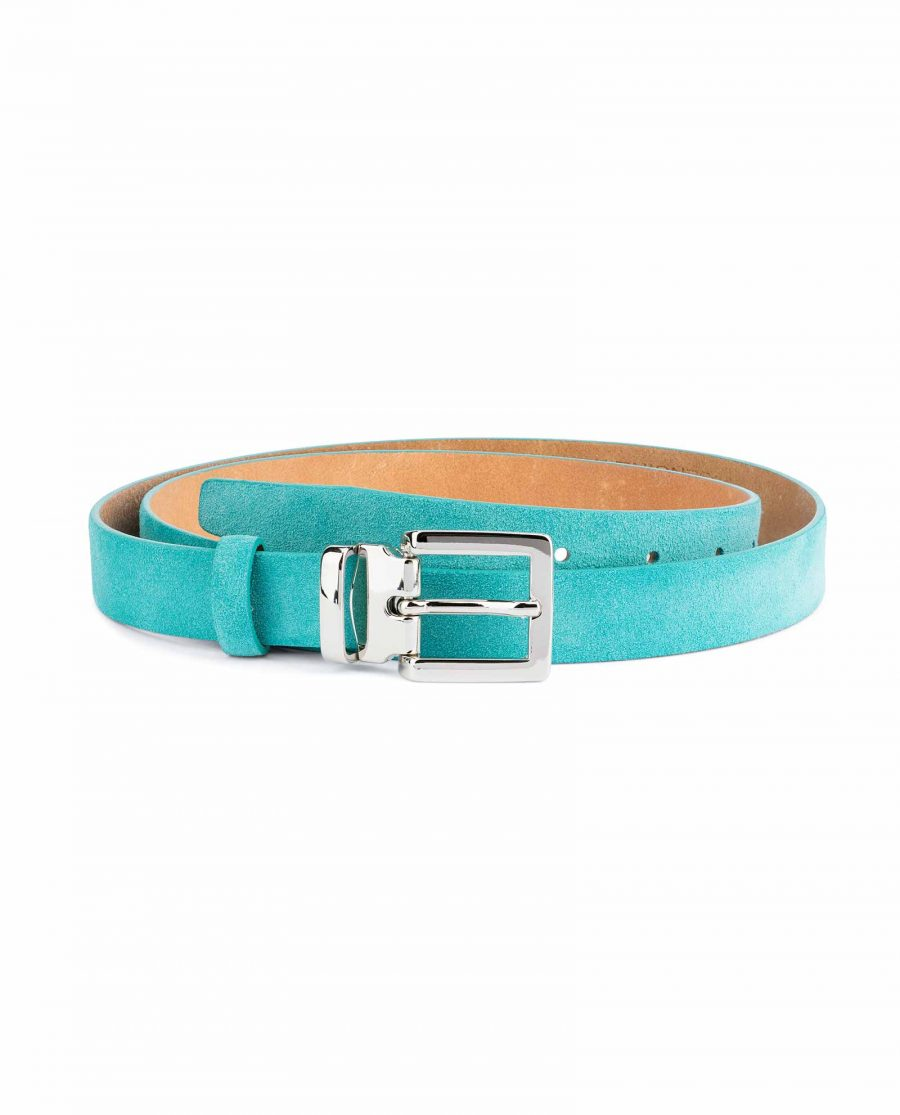 Thin-Turquoise-Belt-Square-Buckle-1-inch-Capo-Pelle