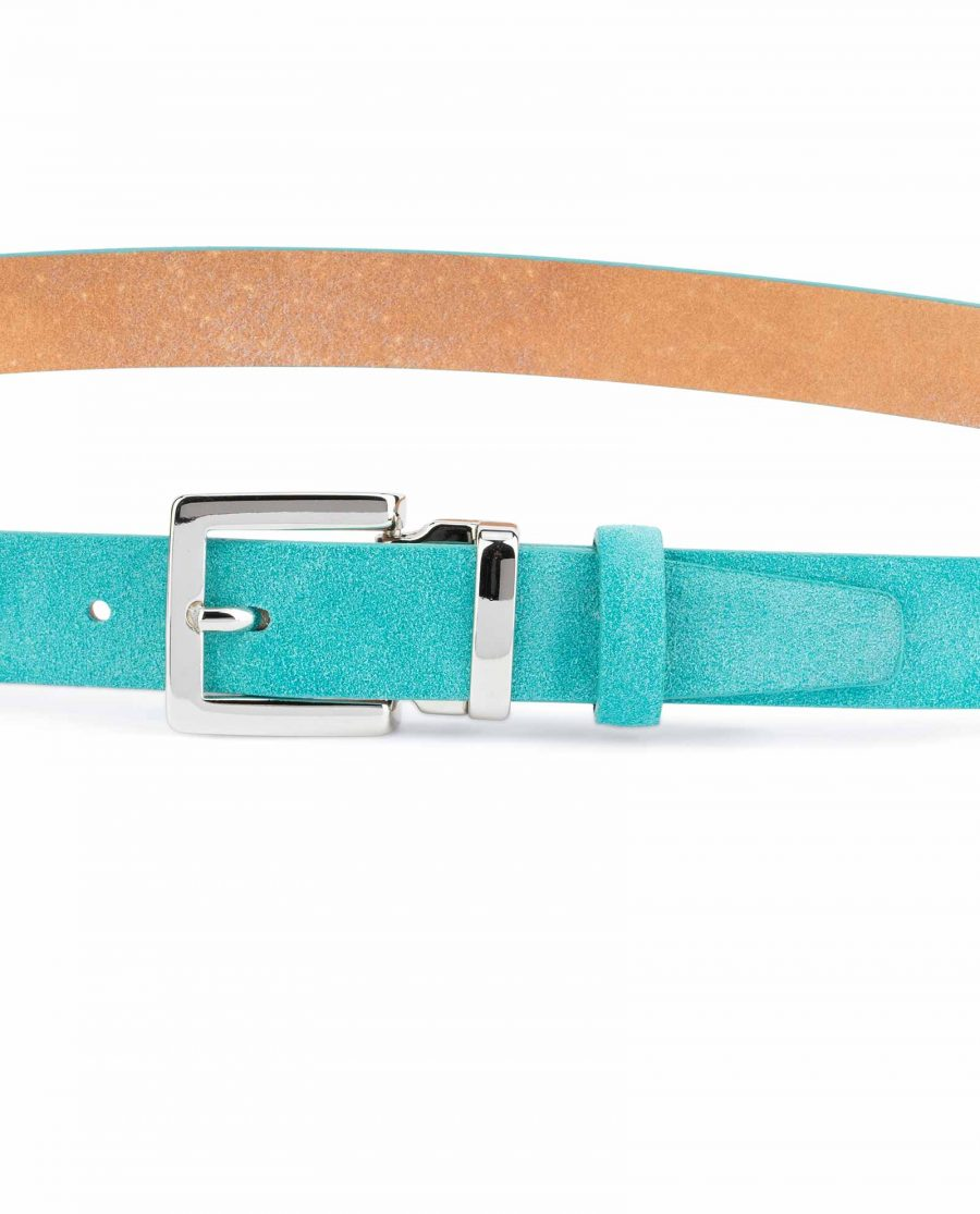 Thin-Turquoise-Belt-Square-Buckle-1-inch-On-dress