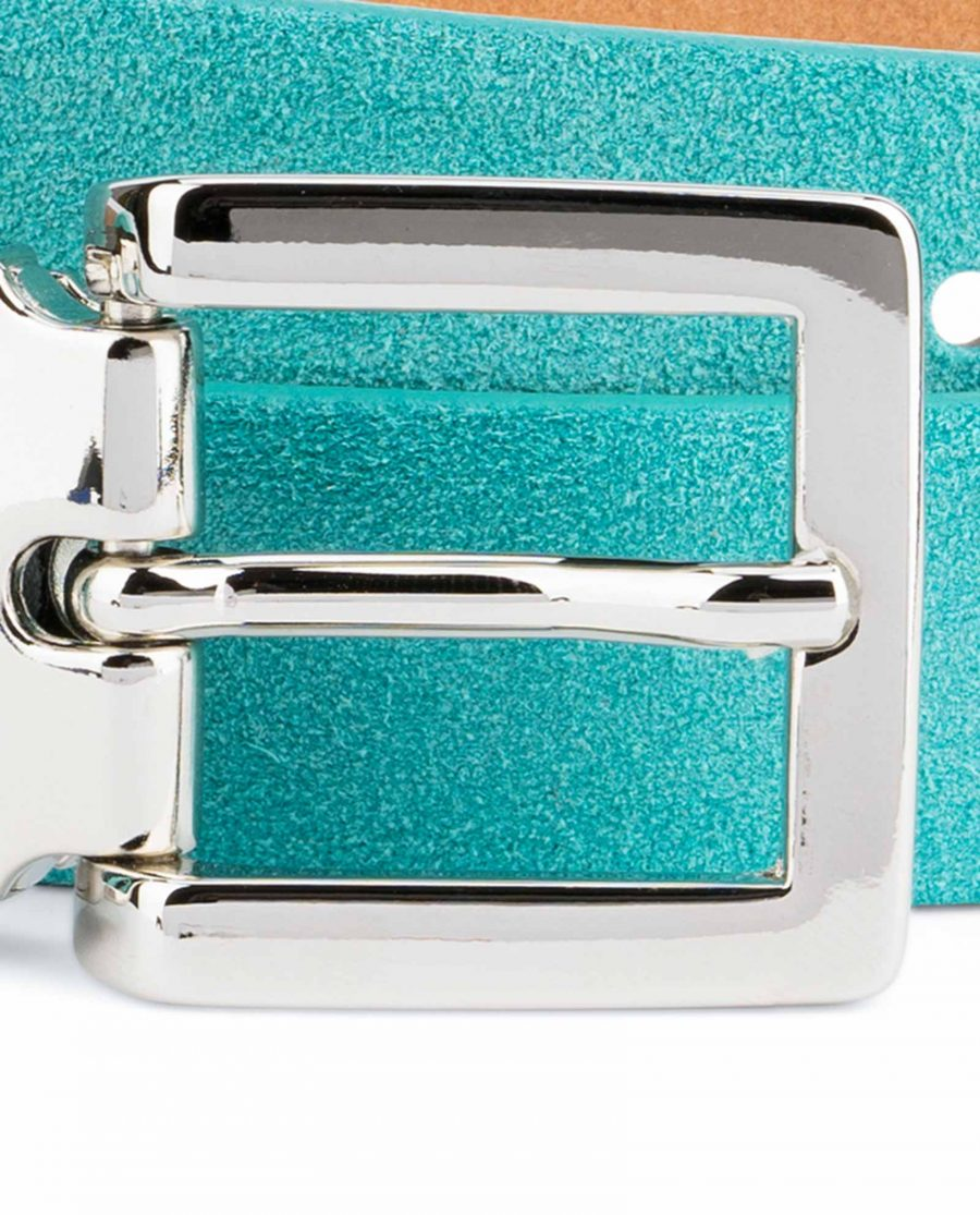 Thin-Turquoise-Belt-Square-Buckle-1-inch-Silver-nickel